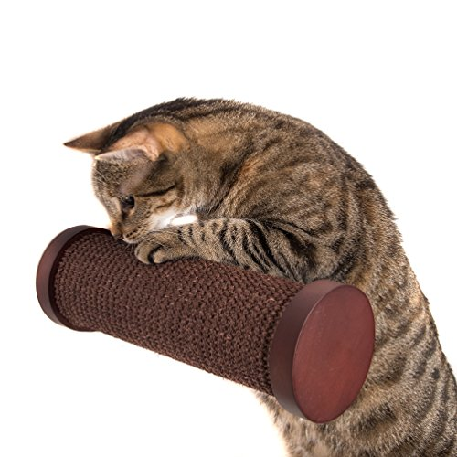 Art of Paws Cat Perch | Wall Mounted Cat Post, Cat Window Perch, Horizontal Cat Scratching Post, Cat Shelf, Cat Climber | Cat Accessories Part of Cat Shelves (Post Perch)