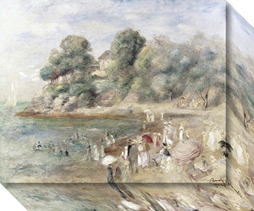 Canvas Art Gallery Wrap 'The Beach at Pornic, 1892' by Pierre-Auguste Renoir