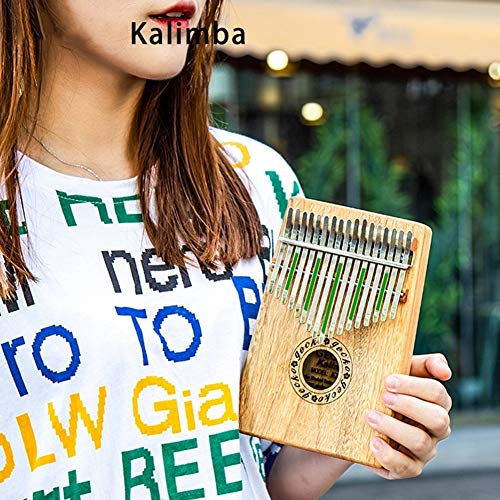 MG.QING Kalimba 17 Key Camphor Wood B-Tone Electronic Thumb Piano Mbira Kalimba Musical Instrument,A by MG.QING (Image #7)