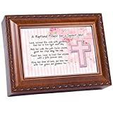 Cottage Garden Baptismal Prayer Girl Woodgrain Inspirational Music Box Plays Jesus Loves Me Review