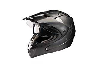 NOX Casco Motocross N311, Negro Mate, XS