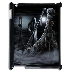 K-G-X Phone case For Ipad 2/3/4 Case Case-Pattern-13 Skull Art Protective Back Case