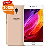"GlocalMe S1/G1701 Unlocked Smartphone with 20GB Global Data - SIM Free Roaming Free World Phone - 5.5"" FHD, Dual-SIM, 64GB - Built in GlocalMe Connect APP Full Band Supported (GOLD)"