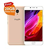 GlocalMe S1/G1701 Unlocked Smartphone with 20GB Global Data - SIM Free Roaming Free World Phone - 5.5' FHD, Dual-SIM, 64GB - Built in GlocalMe Connect APP Full Band Supported (Gold)