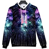 BTS 3D Print Hooded Hoodies Cool Star Sky Sweatshirt Women Fashion Hip Hop Cool Hoodie Casual Tracksuit Clothes