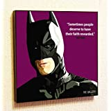 Batman Marvel DC comics Super Hero Motivational Quotes Wall Decals Pop Art Gifts Portrait Framed Famous Paintings on Acrylic Canvas Poster Prints Artwork Geek Decor Wood