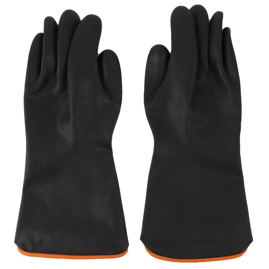 Pair 14.5' Length Anti Acid Industry Chemical Resistant Rubber Gloves Sourcingmap a11111100ux0132
