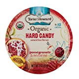 Torie & Howard Organic Hard Candy Pomegranate & Nectarine 2 oz tin (Pack of 8)
