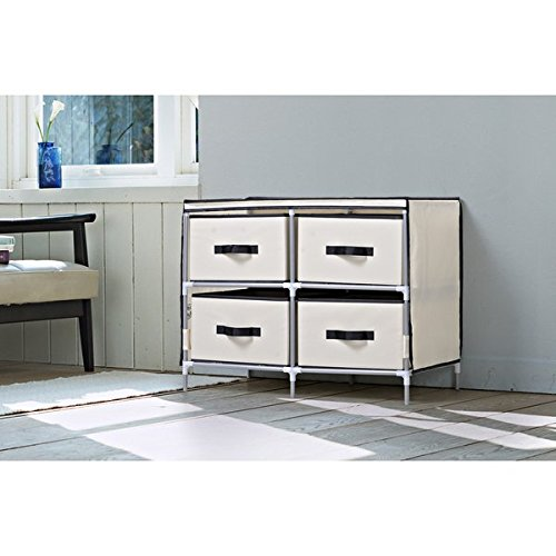 Homestar Beige Fabric 4-drawer Dresser by Generic