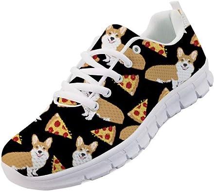 Chaqlin - Zapatillas de Running para Mujer, Unisex, diseño de Perro Salchicha, Color, Talla 42 EU: Amazon.es: Zapatos y complementos