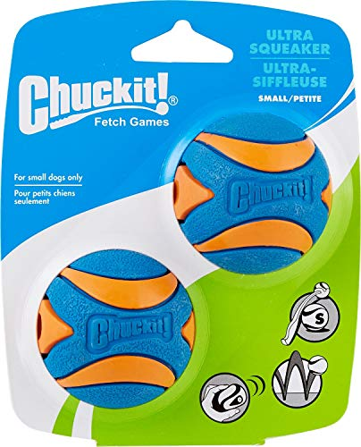 51RPr99q3WL - Chuckit! Ultra Squeaker Dog Ball
