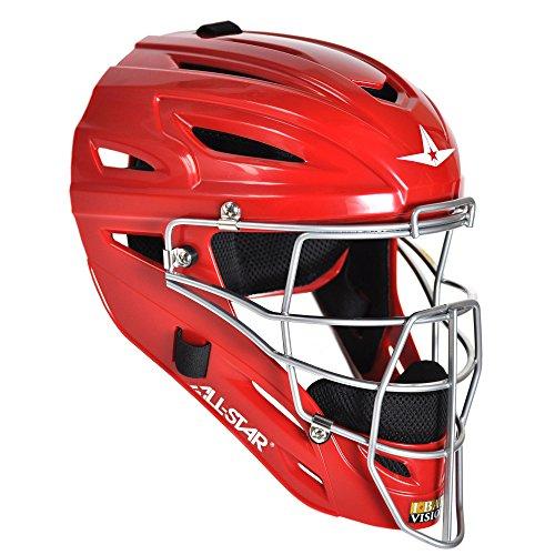 All-Star System Seven Youth Catcher's Helmet MVP2510 (Scarlet)