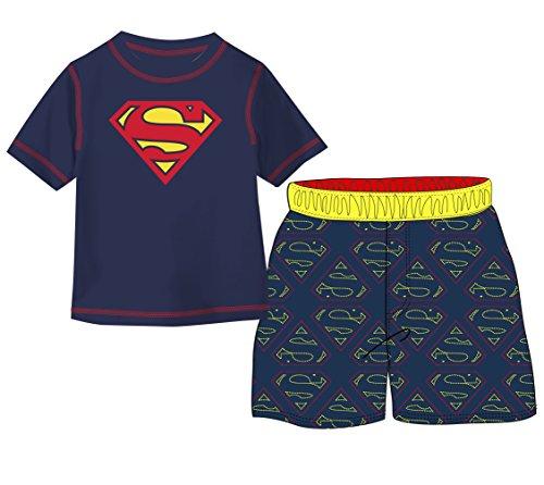 Warner Brothers Baby Boys Superman 2-Piece Swim Set, Navy/Yellow, 18mo