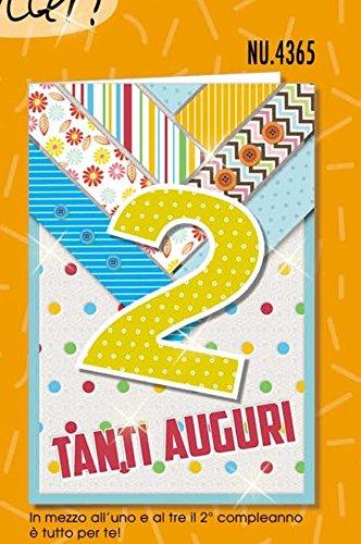 Tarjeta Felicitación cumpleaños 2 años Glitter Stravagante ...