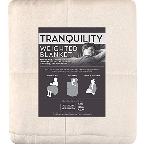 Cheap Tranquility Weighted Blankets - 18 Pounds (Ivory) Black Friday & Cyber Monday 2019