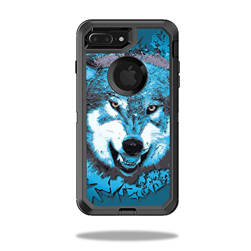 MightySkins Skin Compatible with OtterBox Defender iPhone 8 Plus - Wolf Shatter | Protective, Durable, and Unique Vinyl Decal wrap Cover | Easy to Apply, Remove, and Change Styles | - Decal Shatter