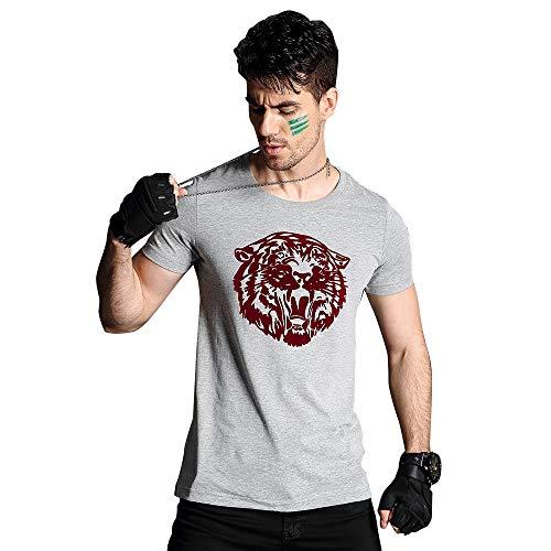 Youth & Adult Mens Classic Tiger Print T-Shirt Short Sleeve