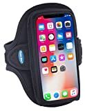 Armband for iPhone X and Galaxy S8 S7 S6; Also for iPhone 8 7 6s 6 with slim case - Water Resistant - For Running & Working Out - For Women & Men [Black]