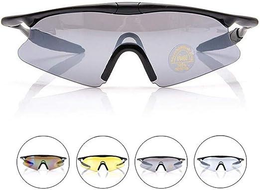 QinWenYan Gafas Ciclismo Gafas de Ciclismo para Hombre ...