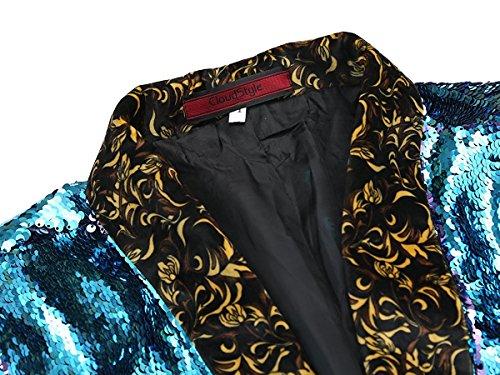 Veste Bleu En Paillettes Mariage De Cérémonie Costume Élégant rwqfrOzA