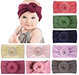 Baby Headbands Turban Knotted, Girl's Hairbands for Newborn, Toddler and Children's