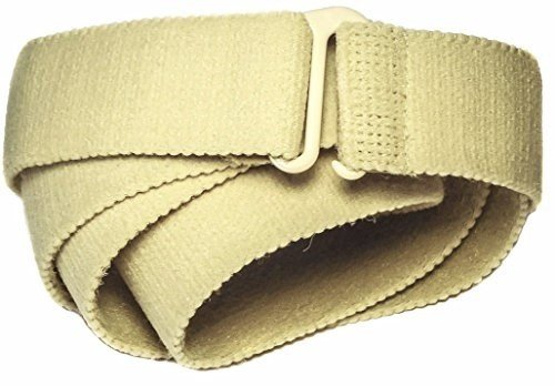Slimware Stretch Unisex Flat Buckle Elastic Belt Made in USA Medium Beige