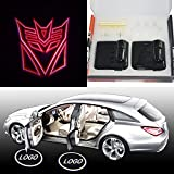 Spoya Red The Transformers Decepticons Wireless Magnetic Car door step LED welcome logo shadow light projection projector light