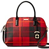 Kate Spade New York Brightwater Drive Woodland Plaid Small Rachelle Satchel - Red Carpet