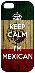 @ALL Keep Calm I'm Mexican, Mexico Flag 957 Cover Case For Iphone 5C(Black) with Best Plastic