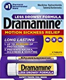 Dramamine Motion Sickness Relief Less Drowsey Formula, 8 Count, Health Care Stuffs
