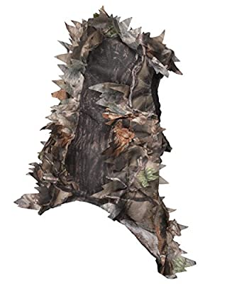North Mountain Gear Ultra Light Hunting Camouflage Full Cover 3D Leafy Face Mask One Size Fits Most