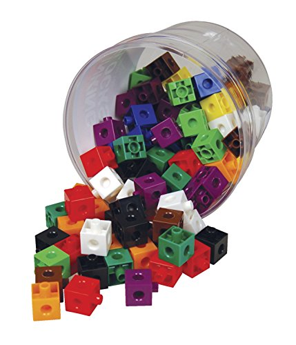 Learning Advantage 7230 Link Blocks, Assorted Colors, 5.2