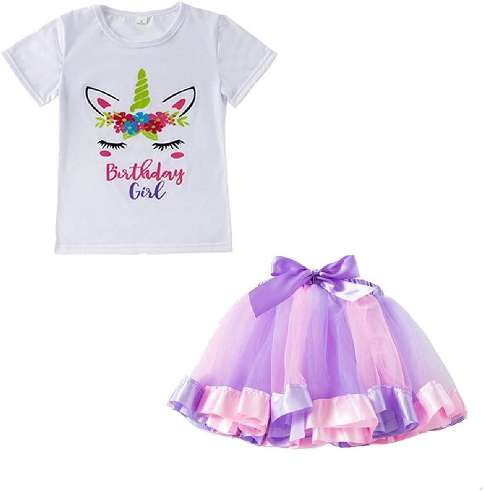 Star-bw Faldas Niña Tutu niños Unicornio Camiseta Vestido Dulce ...