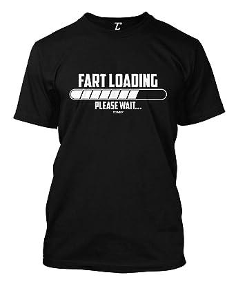 f7d2af93 Fart Loading Please Wait - Funny Hilarious Men's T-Shirt (Black, Small)