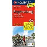 Regensburg und Umgebung - Unteres Altmühltal: Fahrradkarte. GPS-genau. 1:70000 (KOMPASS-Fahrradkarten Deutschland, Band 3104)