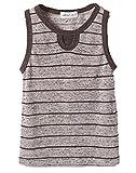 Casual Summer Horizontal Stripe Sleeveless Shirt Little Boys Tank Tops