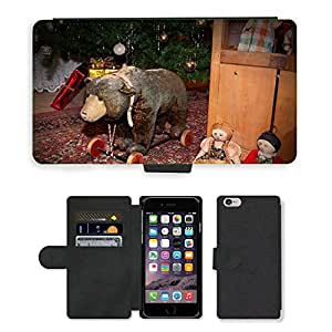 PU LEATHER case coque housse smartphone Flip bag Cover protection // M00134014 Bear Toys Teddy Bear Teddy móvil // Apple iPhone 6 4.7""