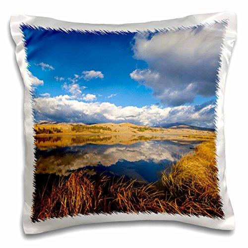 3dRose Danita Delimont - Lakes - Swan Lake, Gallatin Range, Yellowstone NP, Wyoming - US51 CHA0105 - Chuck Haney - 16x16 inch Pillow Case (pc_97273_1)