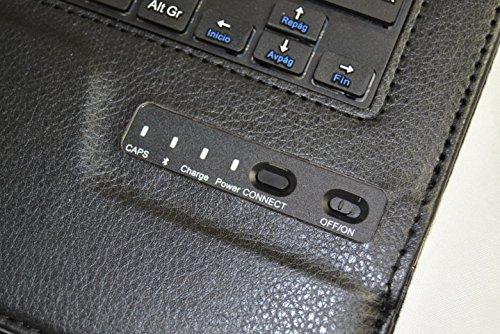 Funda con Teclado Bluetooth Extraíble para Tablet Huawei Mediapad 10 link 10.1