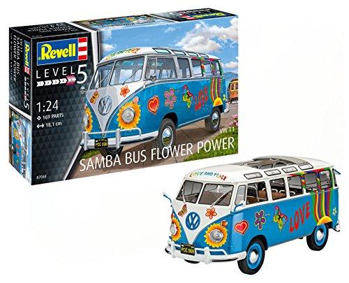 (Revell 07050  VW Samba Bus Flower Power Model Kit)