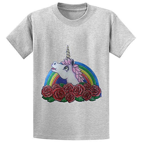 Snowl Roses For My Unicorn Kid's Crew Neck Cotton T-shirt - D2 Brings Girl R2