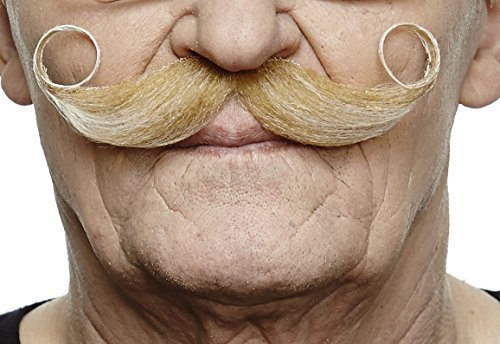 Mustaches Self Adhesive Fake Mustache, Novelty, Maestro False Facial Hair, Costume Accessory for Adults, Blond Color]()