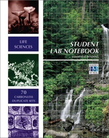 Life Sciences Student Lab Notebook: 70 Carbonless Duplicate Sets by Hayden-McNeil Specialty Products (2001) Spiral-bound