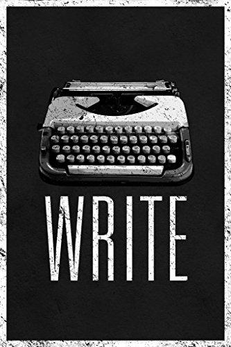 Write Retro Manual Typewriter Black and White Art Print P...