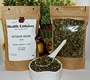 Hyssop Herb Tea/Hysope Herbe (Hyssopus Officinalis) - Health Embassy - 100% Natural (50g)