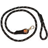 ZippyPaws Climbers Mountain Climbing Rope Dog Leash (Black, 6-Feet)