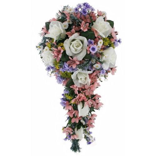 Cascade Bouquet Silk Wedding Flower: Cascading Bridal Bouquet: Amazon.com