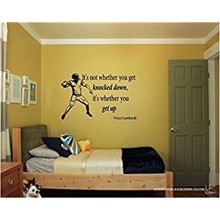 Vince Lombardi Inspirational Football Vinyl Wall Decals Quotes, Quote It!