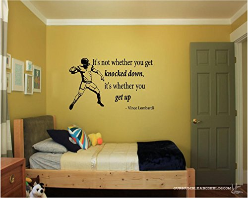 Lombardi Inspirational Football Decals Quote product image