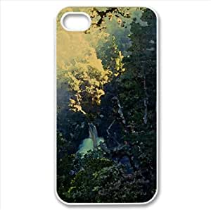 Mountain Forest Watercolor style Cover iPhone 4 and 4S Case (Mountains Watercolor style Cover iPhone 4 and 4S Case)